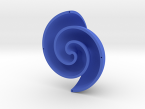 Fermat Vortex Shell CCW in Blue Strong & Flexible Polished