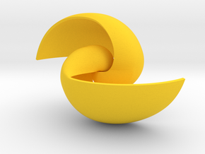 Spacetime Vortex in Yellow Strong & Flexible Polished