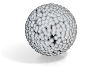 DRAW geo - sphere small balls in White Strong & Flexible