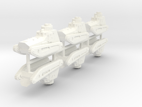 1/285 LK-II light tank (x6) in White Strong & Flexible Polished