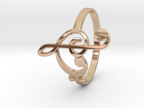 Size 8 Clefs Ring in 14k Rose Gold Plated