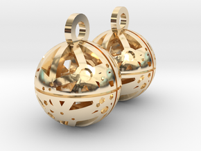 Craters of Dione Earrings in 14k Gold Plated