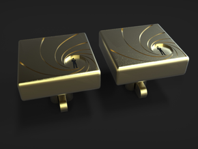 James Bond Cufflinks in Polished Brass