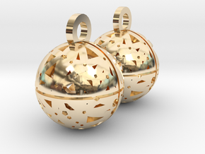 Craters of Mercury Earrings in 14k Gold Plated
