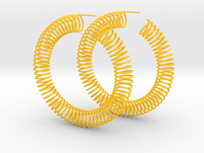 Spring Earrings in Yellow Strong & Flexible Polished