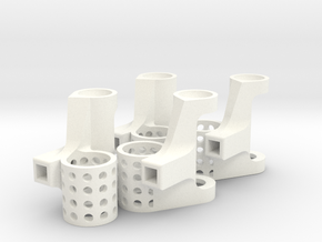 8.5mm Motor Mounts Set in White Strong & Flexible Polished