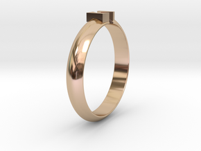 �18.19 Mm Design Block Arrow Ring/�0.716 inch in 14k Rose Gold Plated