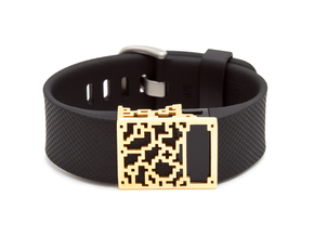 Positive Charge slide for Fitbit Charge & HR in 14K Gold