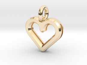 Resonant Heart Amulet - Small in 14K Gold