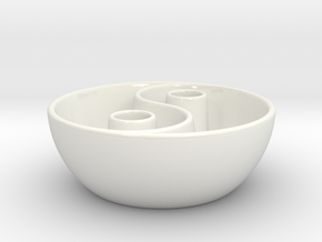 Yin Yang vessel in Gloss White Porcelain