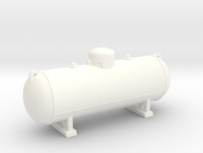 Propane tank 500 gallon. HO Scale (1:87) in White Strong & Flexible Polished