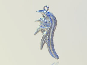 Dragon Wing in Polished Silver
