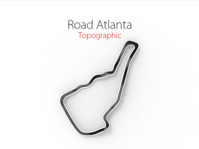 Road Atlanta | Topographic Small in Full Color Sandstone