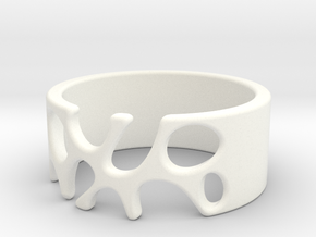 Ring with holes - 20.6 mm / size 11 in White Strong & Flexible Polished