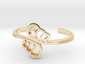 Wave Cuff Bracelet in 14k Gold Plated