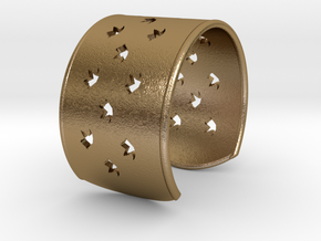Bird Bracelet Medium �2.48 inch/�63 mm in Polished Gold Steel