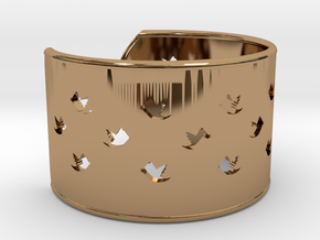 Bird Bracelet XXL �78 Mm/3.07 inch in Polished Brass
