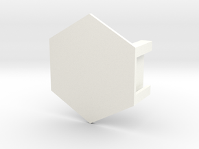 Battletech Miniature Hex Base in White Strong & Flexible Polished