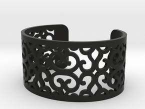 Arabesque perforated bracelet in Black Strong & Flexible