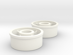 Kyosho Mini-Z Front Wheel +0 Offset in White Strong & Flexible Polished