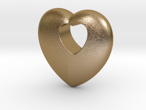 Heart 4 you in Polished Gold Steel
