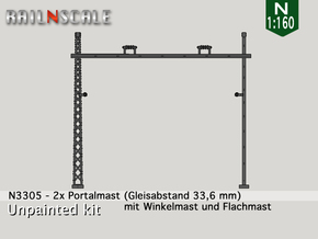 2x Portalmast (Oberleitung Epoche I - N 1:160) in Frosted Ultra Detail