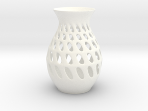 Organic Vase in White Strong & Flexible Polished