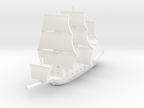1/1250 Galleon game piece 1 in White Strong & Flexible Polished