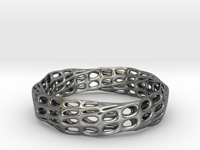 Mobius Band Bi-Organic Bracelet 65mm (001a) in Polished Silver