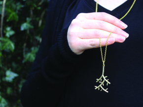 Branch Pendant in Polished Brass