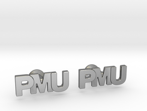 Monogram Cufflinks PMU in Polished Silver