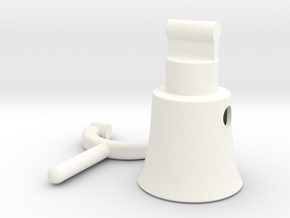 Megaphone 2 in White Strong & Flexible Polished