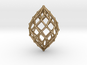 0515 Polar Zonohedron V&E [8] #002 in Polished Gold Steel