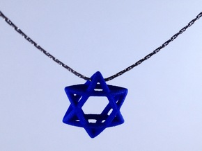 Star Of David, mini in Polished Gold Steel