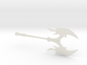 Miniature Battle Axe in Transparent Acrylic