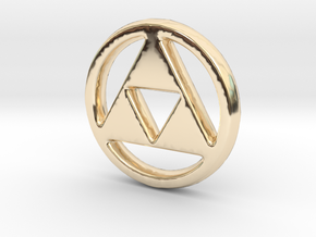 Triforce Charm - 11mm in 14K Gold