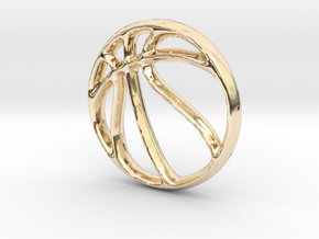 Basketball Charm - 11mm in 14K Gold