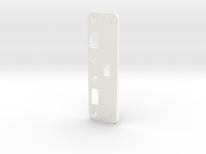 Roller to Switch Conversion Bracket - Jazzmaster in White Strong & Flexible Polished