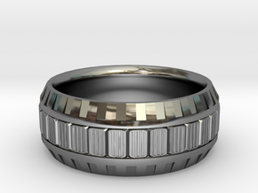 TECH Ring  in Premium Silver