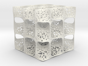 Diamond Surface Mesh Pattern in White Strong & Flexible