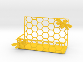 Honey Bee Card Holder in Yellow Strong & Flexible Polished