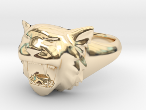 Awesome Tiger Ring Size 8 in 14K Gold