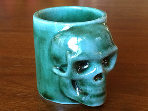 Skull Shot in Gloss Oribe Green Porcelain