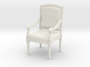 1:48 Louis XVI Armchair in White Strong & Flexible