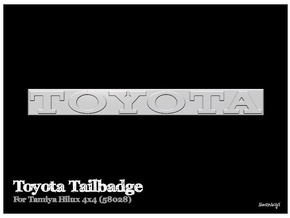 Simensays Hilux 4x4 Toyota Tailgate Badge in White Strong & Flexible Polished