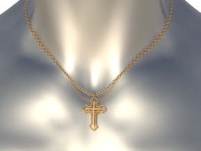 The Ringed Cross in 14k Rose Gold
