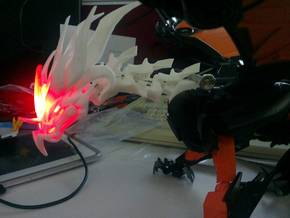 Ultimate TFP Beast King Head + Neck in White Strong & Flexible