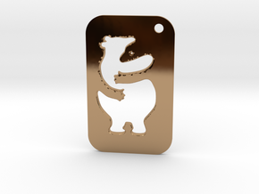 Bear Tag in Polished Brass