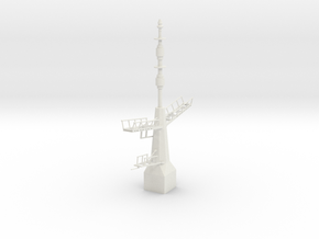 1/96 / 1/100 scale British Navy Type 23 Aft Mast in White Strong & Flexible