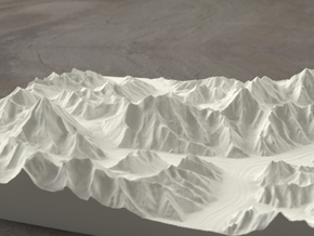 8''/20cm Baltoro Glacier and K2, Sandstone in Sandstone